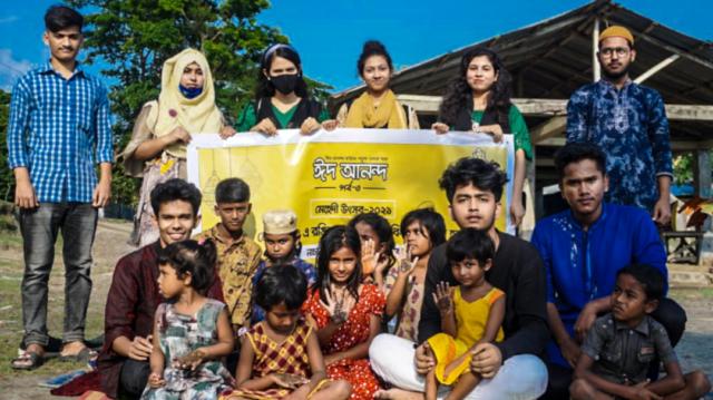 কলাপাড়ায় বিন্যাস ফাউন্ডেশনের মেহেদী উৎসব